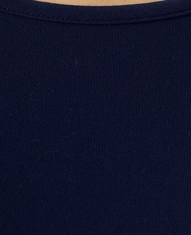 クルーネック七分袖カットソー/ネイビー