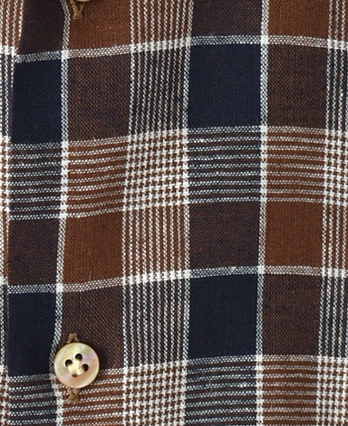 ナポリシャツ/イタリア製(綿麻)
