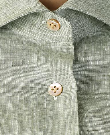 ナポリウーマンシャツ/リネン[後ろダーツデザイン]