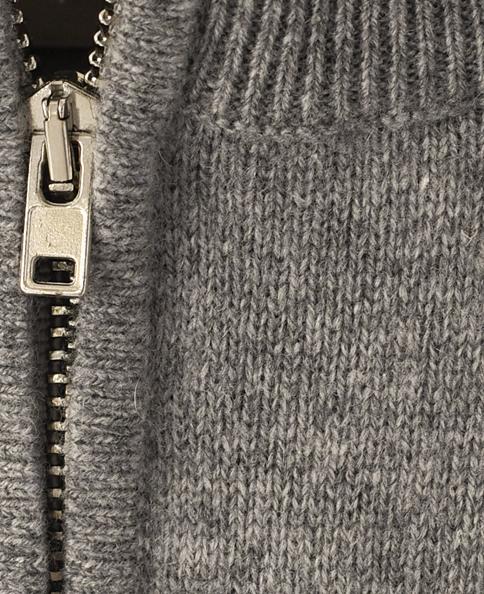 カシミヤ ハーフジップセーター/イタリア製
