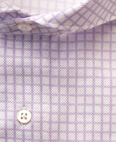 NYプリントピケシャツ/カノコニット