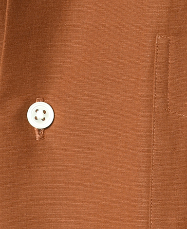 半袖シャツ(オープンカラー)/綿×和紙