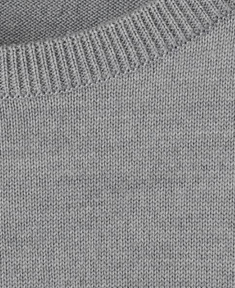 クルーネックセーター(12ゲージ)/スーパーエクストラファインメリノ