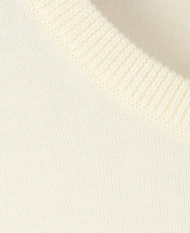 コットンクルーネックセーター