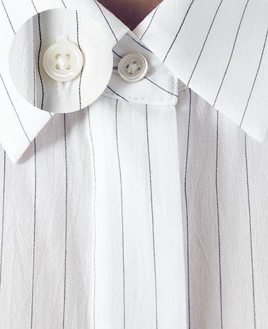 カジュアルシャツ/コットンシルク