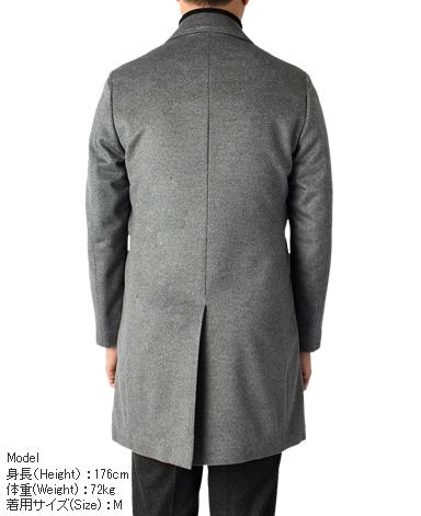 ウールカシミヤステンカラーコート