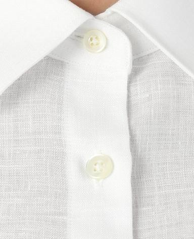 半袖スリムシャツ/スマートリネン
