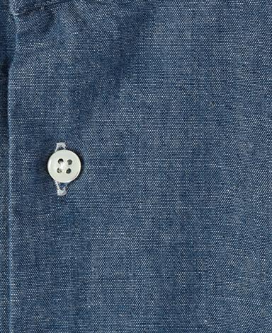 カジュアルシャツ UNTUCKED/シャンブレー(スタンド)