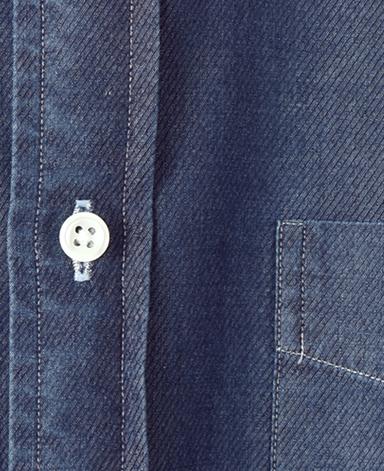 カジュアルシャツ UNTUCKED/デニム(ボタンダウン)
