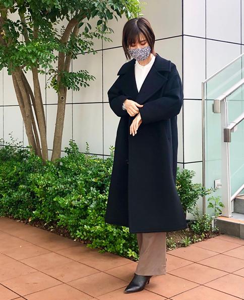 メルトンPコート/ウールカシミヤ