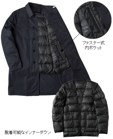 コンバーチブルコート/ダウンライナー付き(2018年モデル)