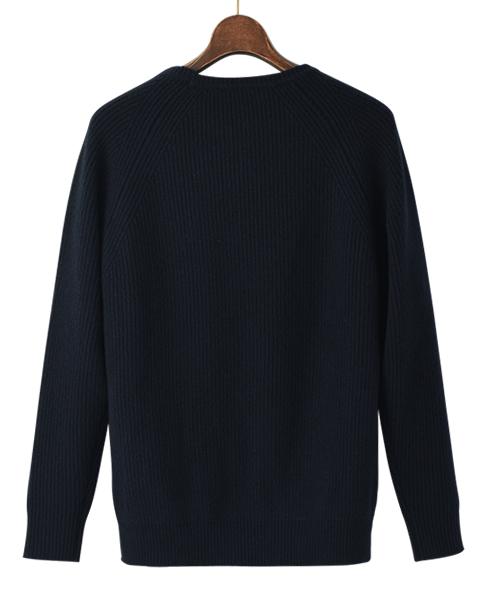 カシミヤ クルーネックセーター/イタリア製