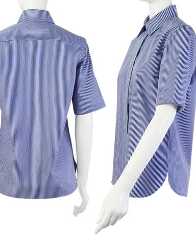 半袖比翼シャツ/ツイル