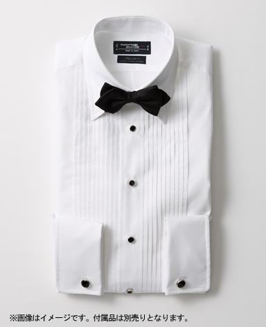 タキシードシャツストレートカラー/サテン