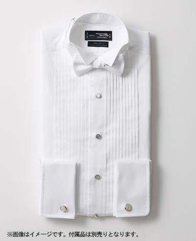 タキシードシャツウィングカラー/サテン