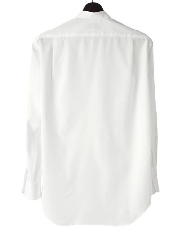 スタンドカラーシャツ/ブロードクロス(ポプリン)