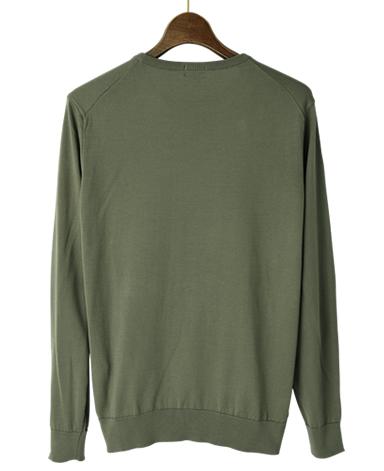 コットンクルーネックセーター/30G(ゲージ)