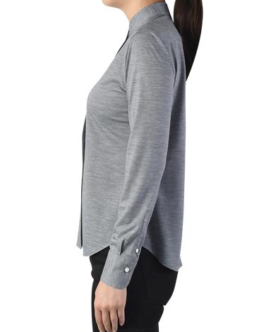 クラシック ウールニットシャツ/TRAVELER