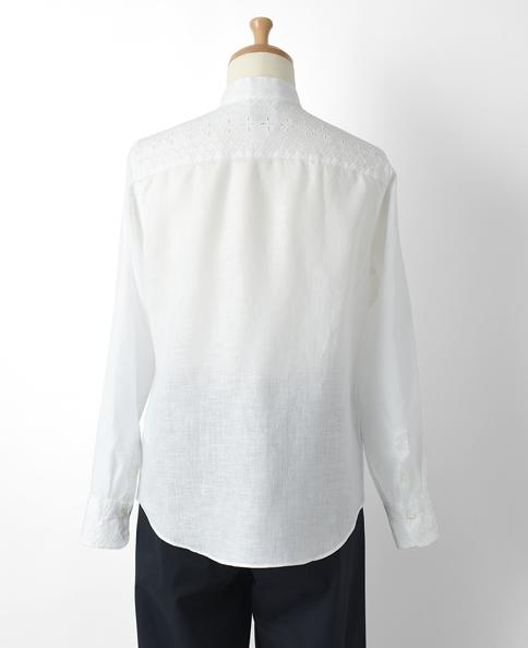クラシックシャツ/Wモデル/リネンレース