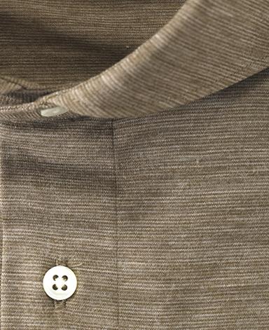 ウールニットシャツ/TRAVELER