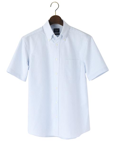 半袖シャツ/セルビッジオックスフォード