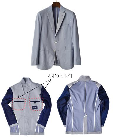 シアサッカーストライプジャケット/TRAVELER