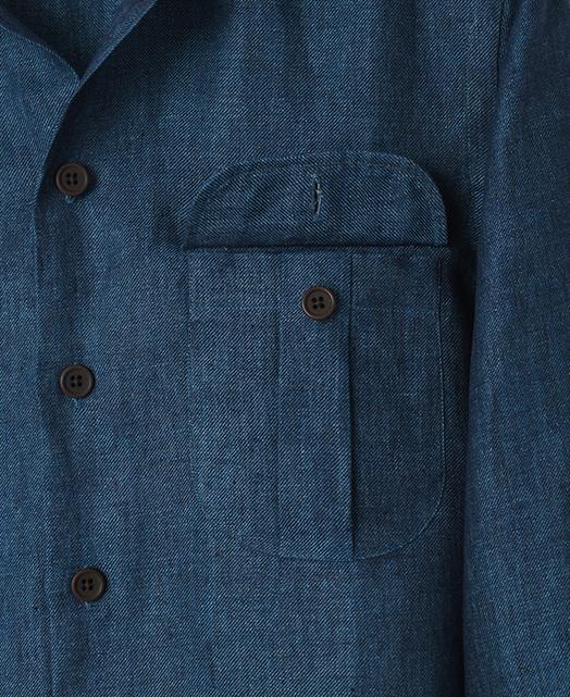 イタリアン2ポケットシャツ/リネン