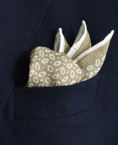リネンポケットチーフ/Made in Italy