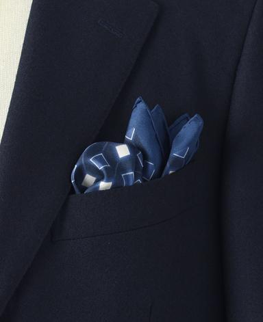 コットンシルクポケットチーフ/ヴィンテージライン