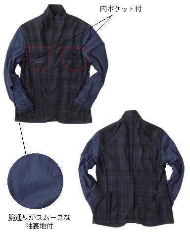 イタリア製コットンウールジャケット/ナポリモデル
