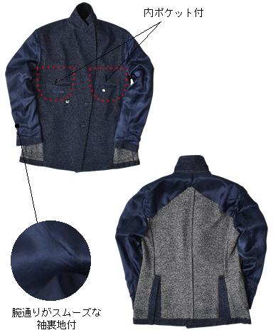 イタリア製ダブルジャケット