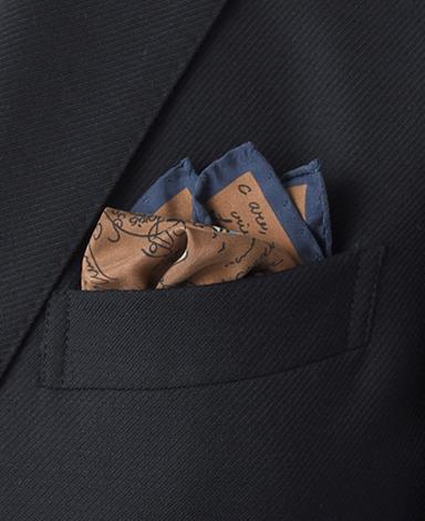シルクポケットチーフ/Made in Italy
