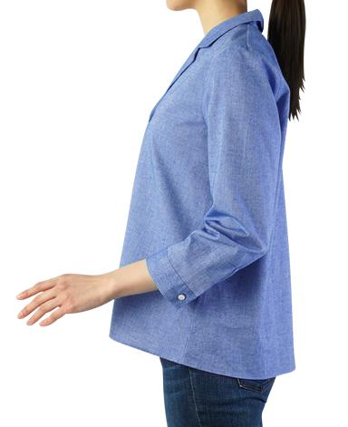 オープンカラーシャツ/インポート生地
