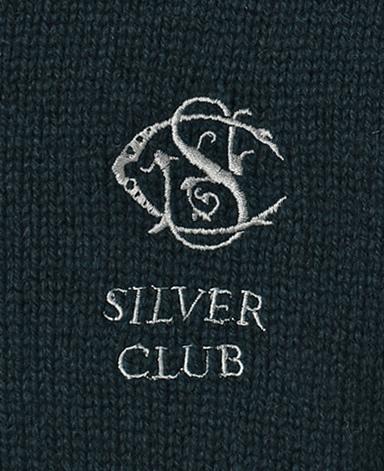 SilverClub ジップアップセーター/カシミヤ