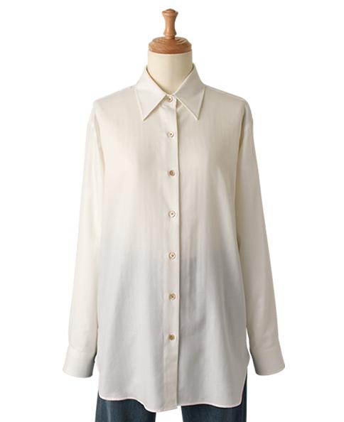 フリーサイズシャツ/カシミヤブレンド