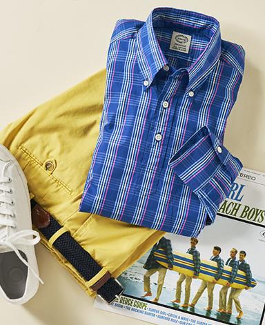 VINTAGE IVYシャツ/プレイドボタンダウンプルオーバー