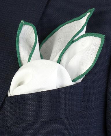 リネンポケットチーフ/Made in Japan
