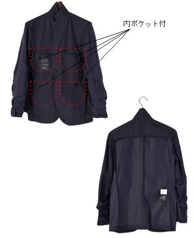 高密度テーラードジャケット