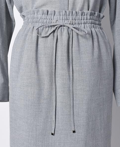 ドローストリングスカート/平織り