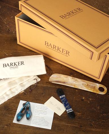 BARKER ウイングチップシューズ/英国製/カーフスエード