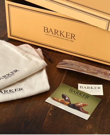 BARKER ダブルモンク/英国製/カーフレザー