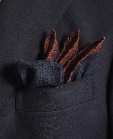 ウールポケットチーフ/フレンチコレクション