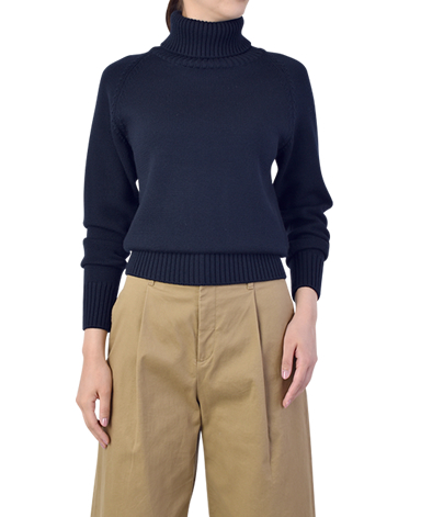 ラグラン タートルネックセーター/ローゲージニット