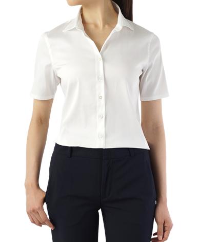 半袖スリムシャツ