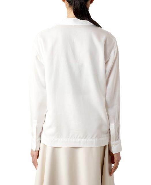 オープンカラーシャツ/ローン