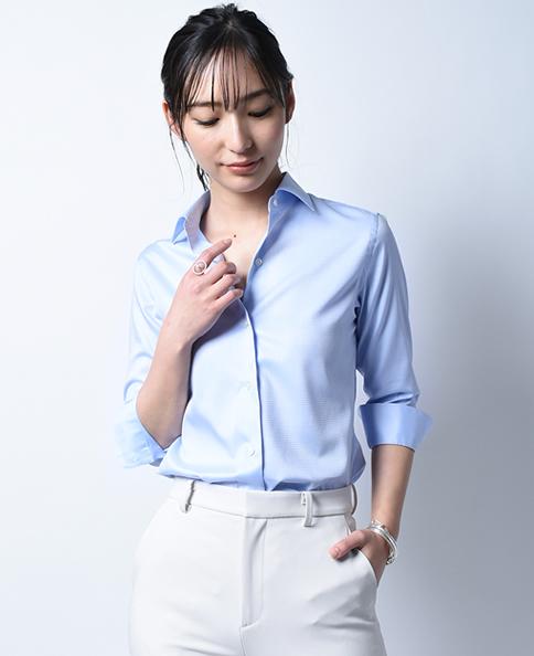 クラシックシャツ/スマートクロス / 七分袖