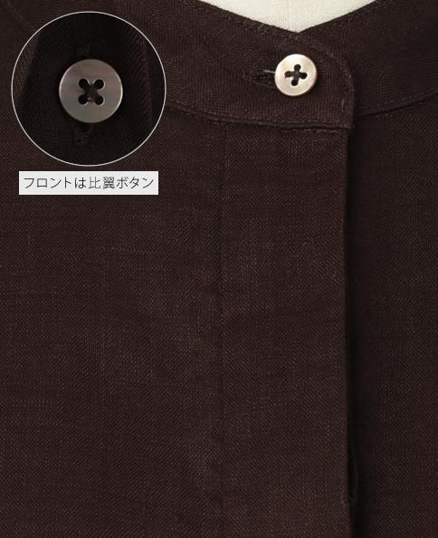 クラシック ブザムシャツ/Wモデル/リネン