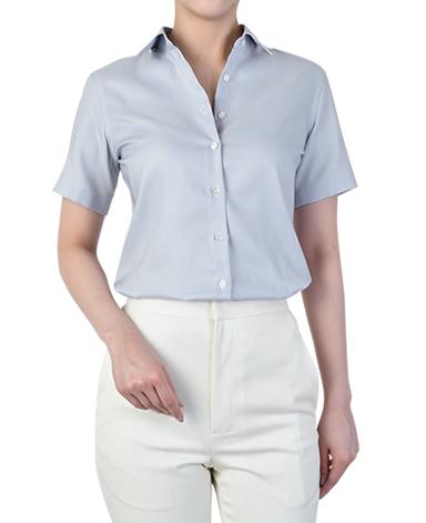 半袖スリムシャツ/バスケット