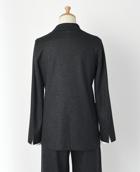 ウールニットジャケット/スムース