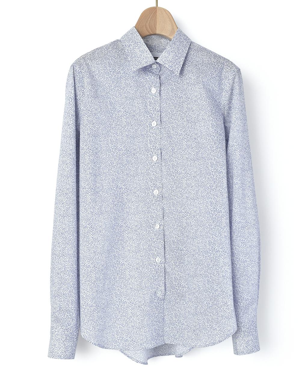 626cbfd0374252 マンハッタンスリムシャツ(40サイズ / 11号 ブルー系): レディース ...